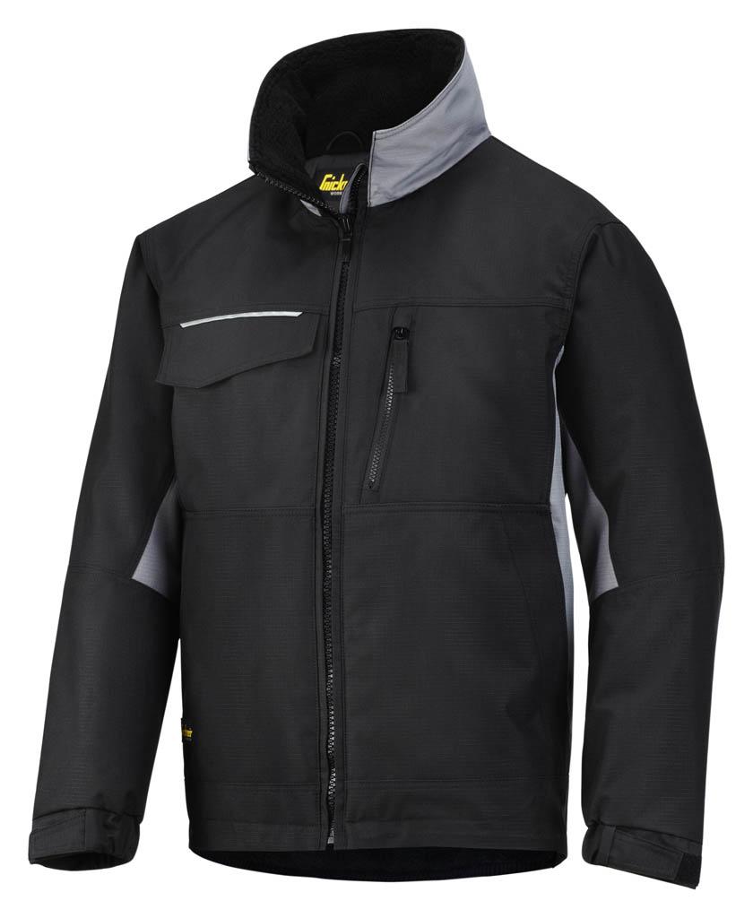 1804 Grey SNICKERS 1128 Rip-Stop Craftsmen/'s Winter Jacket